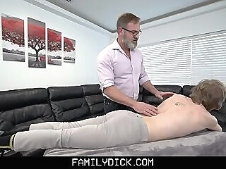 FamilyDick - Athletic Boy Massaged And Fucked By Stepdad Disciplines His Twinky Stepson gay